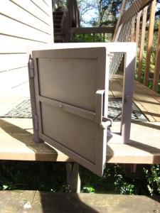 masonry heater, oven, russian heater firebox door