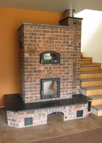 Custom Masonry Heater At Abundant Solar Corvallis Or