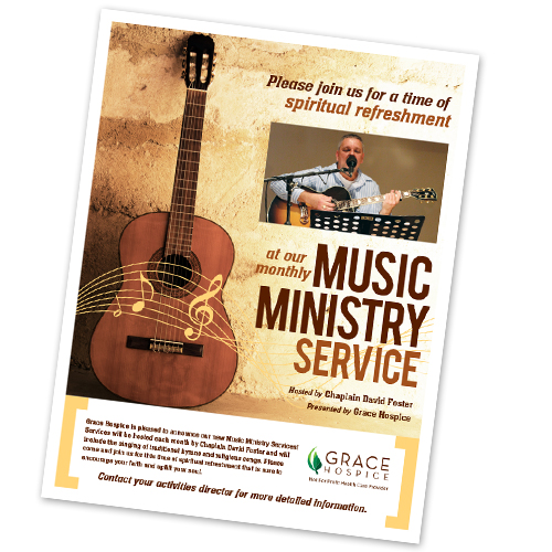 Hospice Music Ministry Flyer