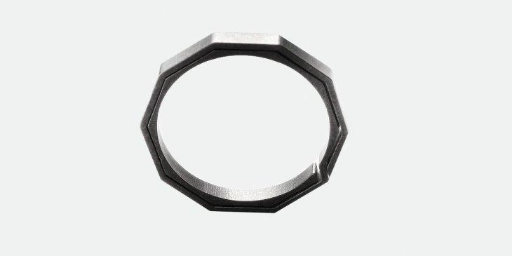 Handgrey Knox Schlüsselring aus Titan mit 10 äußeren Kanten, Schlüsselbund,