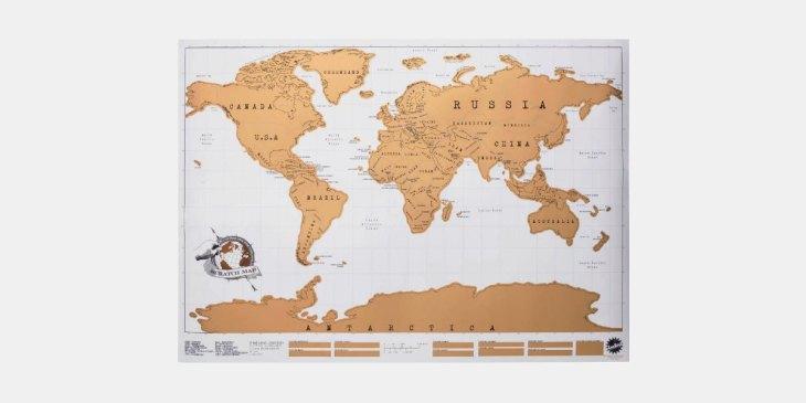 Vatertag, Geschenk, Scratch Map, Weltkarte, Rubbeln, Reisen, Travel, Map