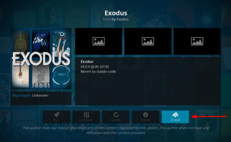 Latest Exodus 8.0 Kodi Addon
