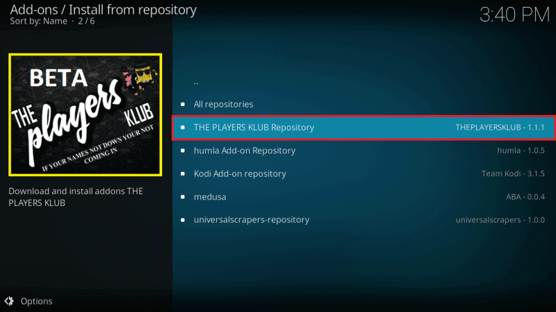 Select The Players Klub Repo