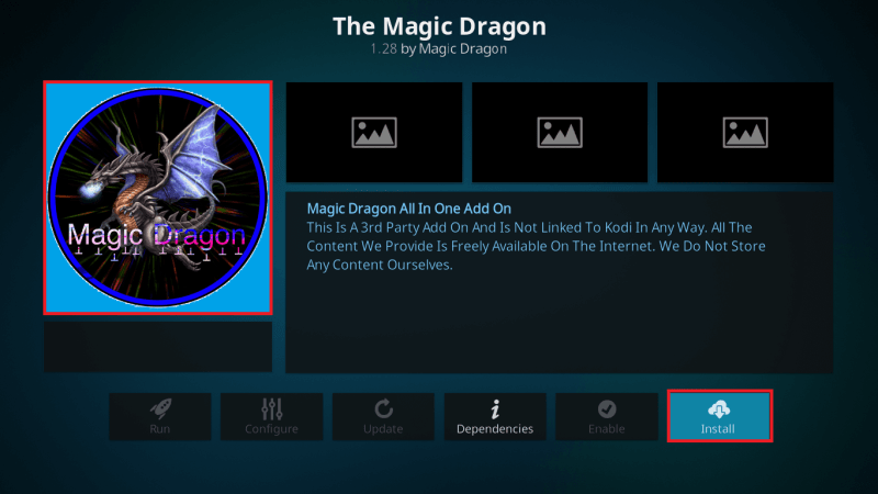 Install The Magic Dragon