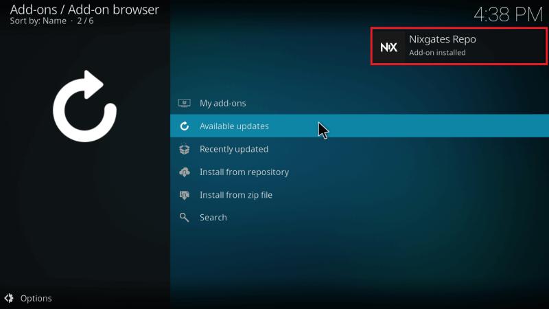 Nixgates Repo Addon Installed