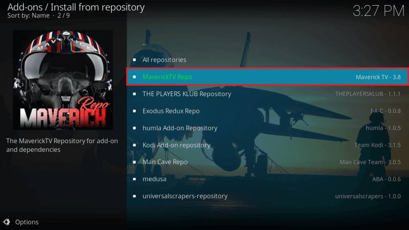 Select MaverickTV Repo