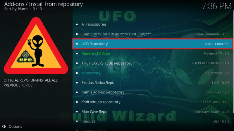 Select UFO Repository