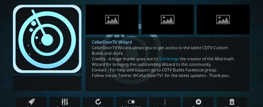 How to Install CellarDoor TV Build on Kodi