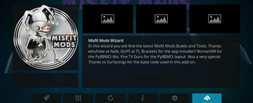 Install Misfit Mods Lite Kodi Build
