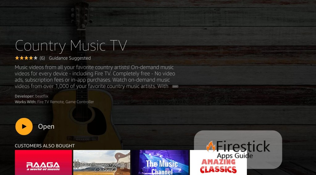 Country Music TV on Fire tv