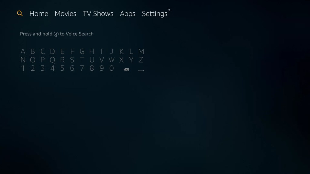Search tab on Fire TV Stick