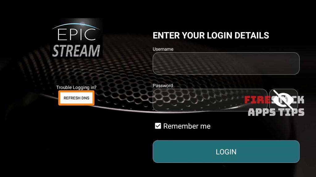 EpicStream on Firestick