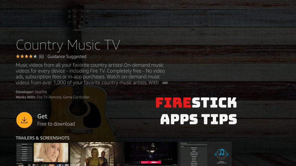Country Music TV on Firestick