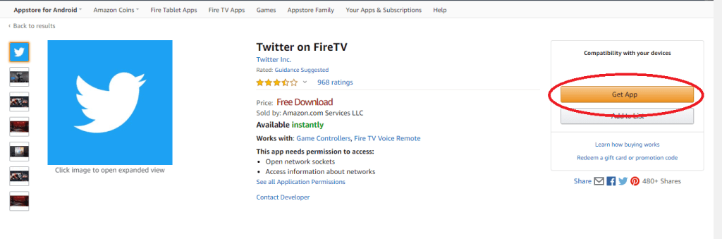 Twitter for Firestick