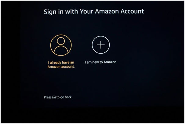 Sign into Firestick Account