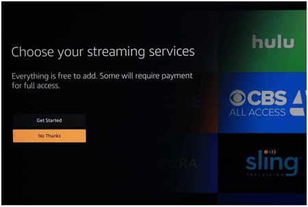 Choose Streaming Services on FireTVStick