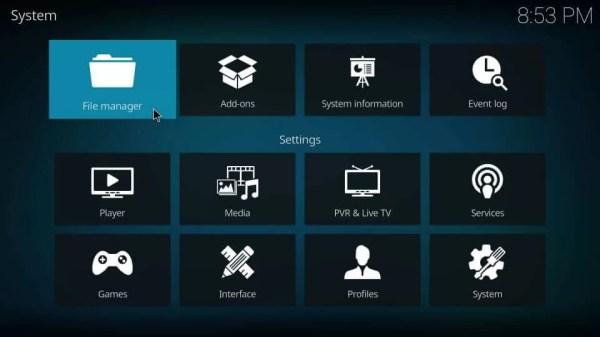 Choose File Manager - Eternal TV