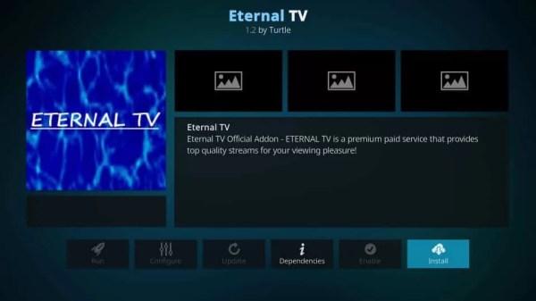 Install Eternal TV