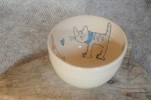 Firestone Studios Cat Bowl