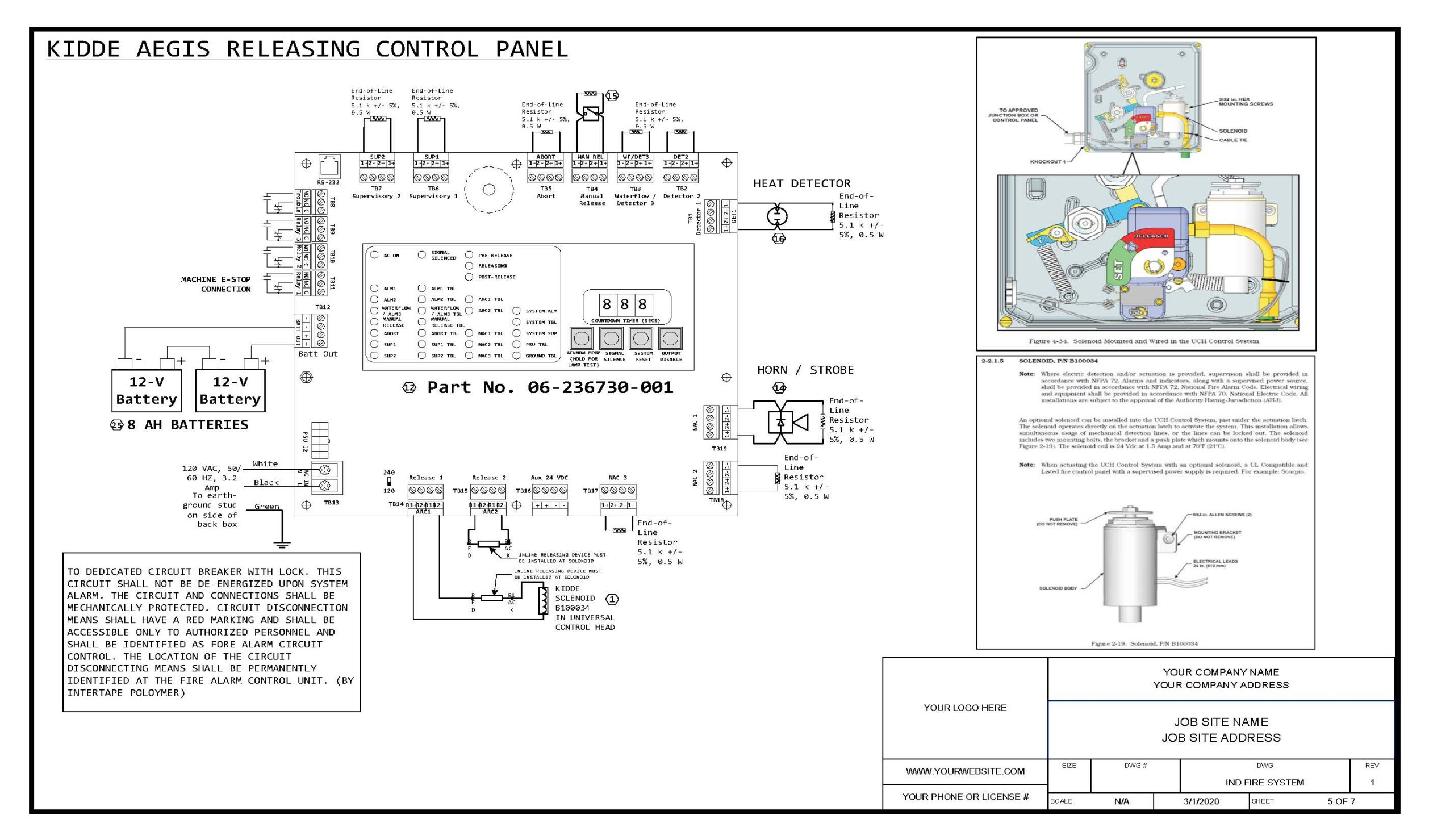 Sample Badger Panel Diagram Firesystemdrawings Llc