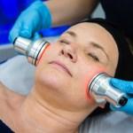clinician showing a face massage as a demonstration
