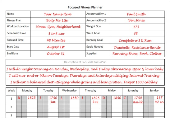 body for life workout sheets pdf