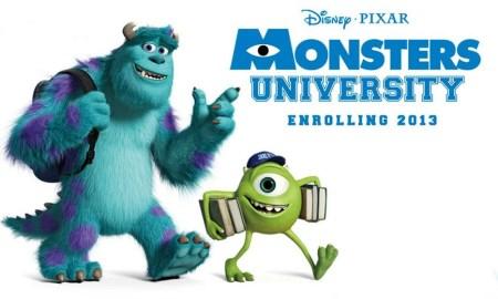 monsters university enrolling 2013 monstruos university monstruos sa 2 pixar walt disney animacion mike wazowsky james p sullyvan sully banner poster cartel imagen promocional clipart render