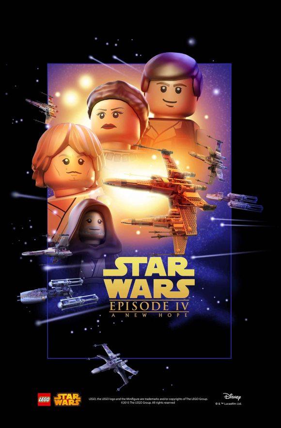 LEGO Star Wars Movie Poster - Episode 4 v2