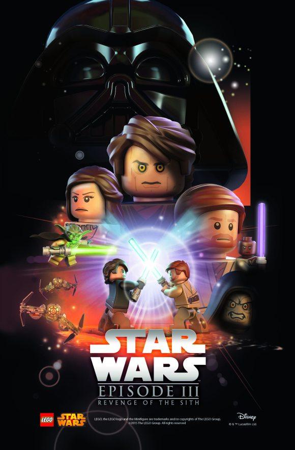 LEGO Star Was Movie Poster - Episode 3 v4
