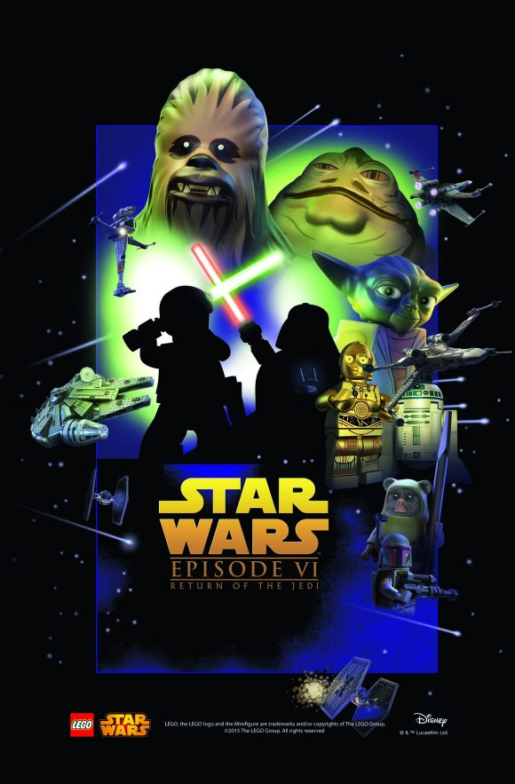 LEGO Star Was Movie Poster - Episode 6 v2