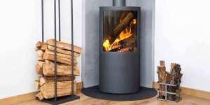 designer wood burning stove