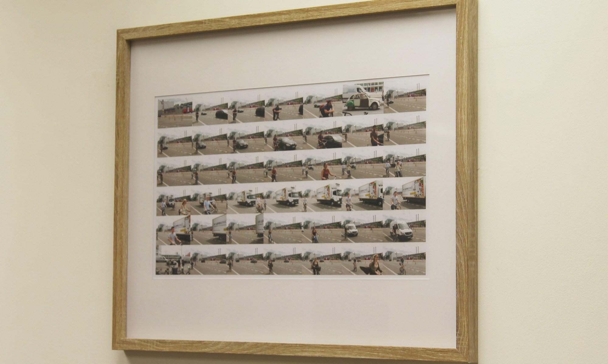 Tom Neill - Berlin Cyclists framed print