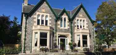 Frontage of Firhall Highland Bed & Breakfast in the town of Grantown on Spey