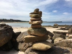 Impressive balancing skills on Hopeman beach