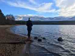 Loch Morlich in the Cairngorms February 18