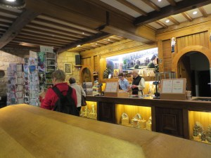 Gift shop at Orval Abbey.