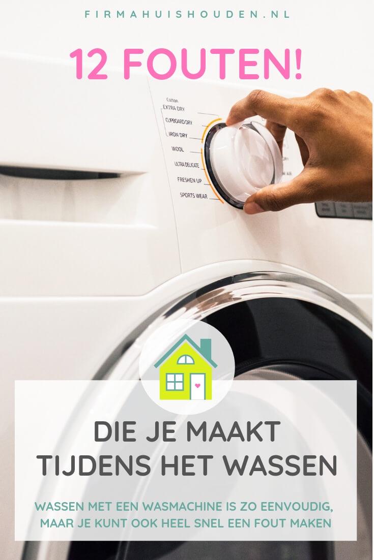 12 Fouten die je maakt tijdens het wassen