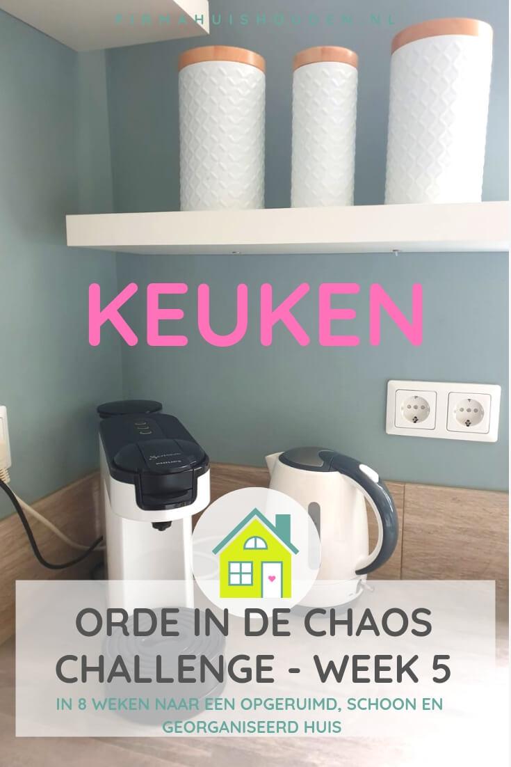 Orde in de Chaos Challenge   week 5 - De keuken