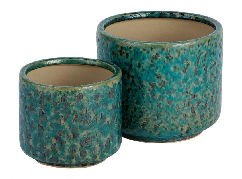 Bloempotten van keramiek met glazuur