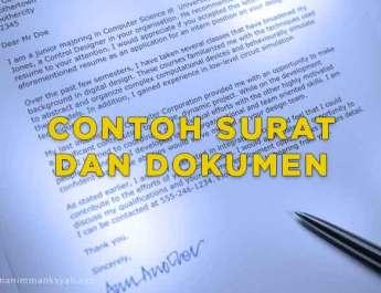 Contoh Surat Orang Tua Wali Murid Untuk Meminta Sumbangan