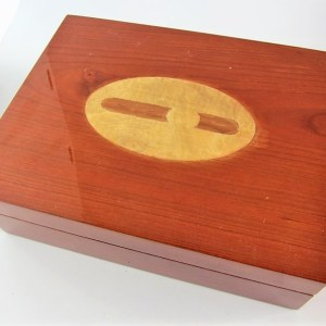 Classic Cigar Inlay Humidor 30ct.