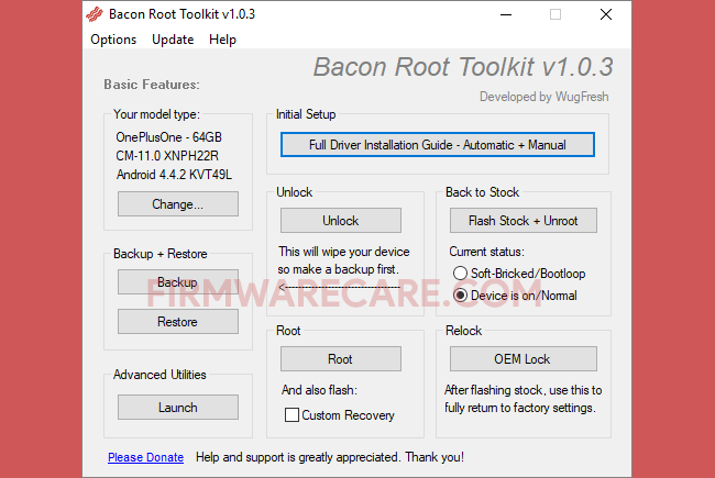 bacon root toolkit v1.0.3
