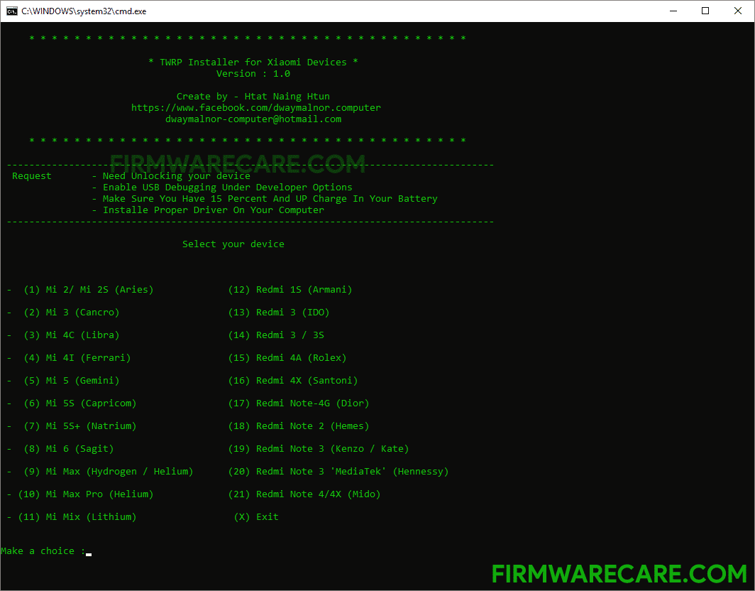 TWRP Installer for Xiaomi Devices v1.0