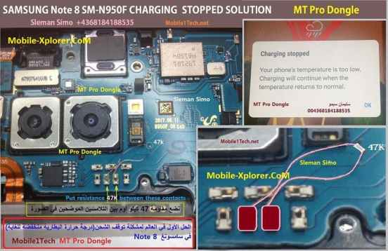Samsung Note 8 N950F Charging Stopped
