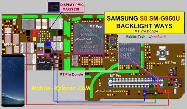 Samsung SM-G950U LCD/Display Light Problem Solution
