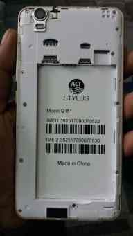 ACI Stylus Q151 Firmware Flash File 100% Tested Without Password
