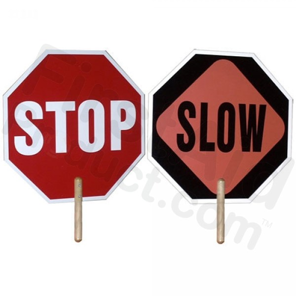 First-Aid-Product.com: Hand Held Stop / Slow Sign - 2 Sided