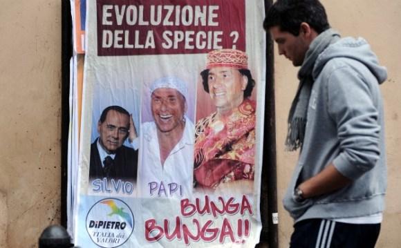 Berlusconi Goes Bunga-Bunga