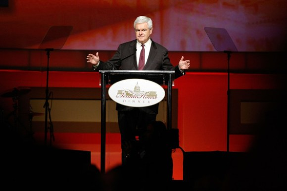 Newt+Gingrich+teleprompter