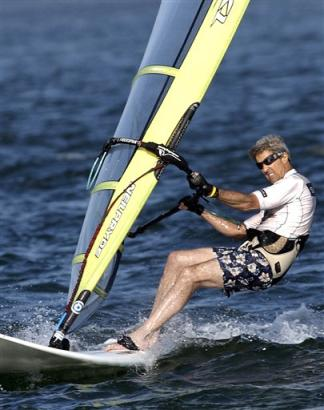 John Kerry Wind Surfing